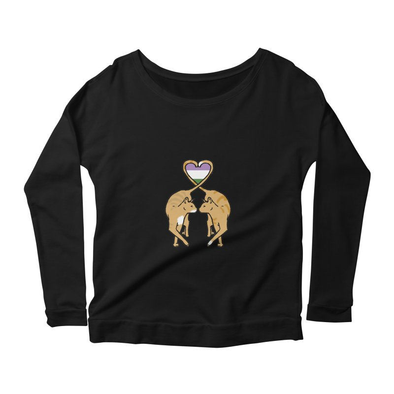 Genderqueer Pride - Love Cats Women's Scoop Neck Longsleeve T-Shirt by alrkeaton's Artist Shop