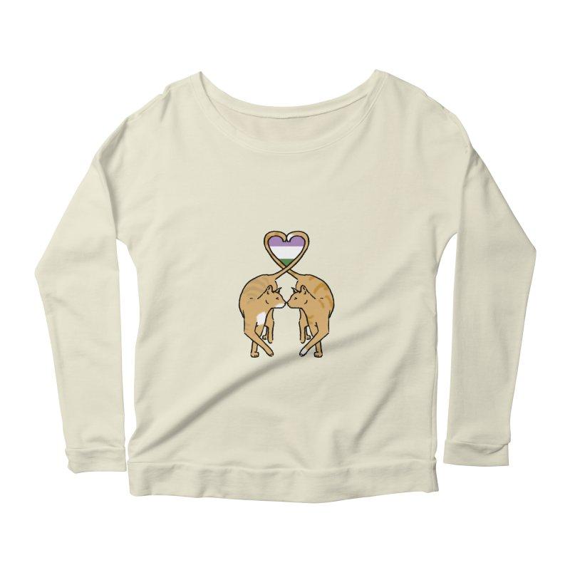 Genderqueer Pride - Love Cats Women's Scoop Neck Longsleeve T-Shirt by alrkeaton's Artist Shop