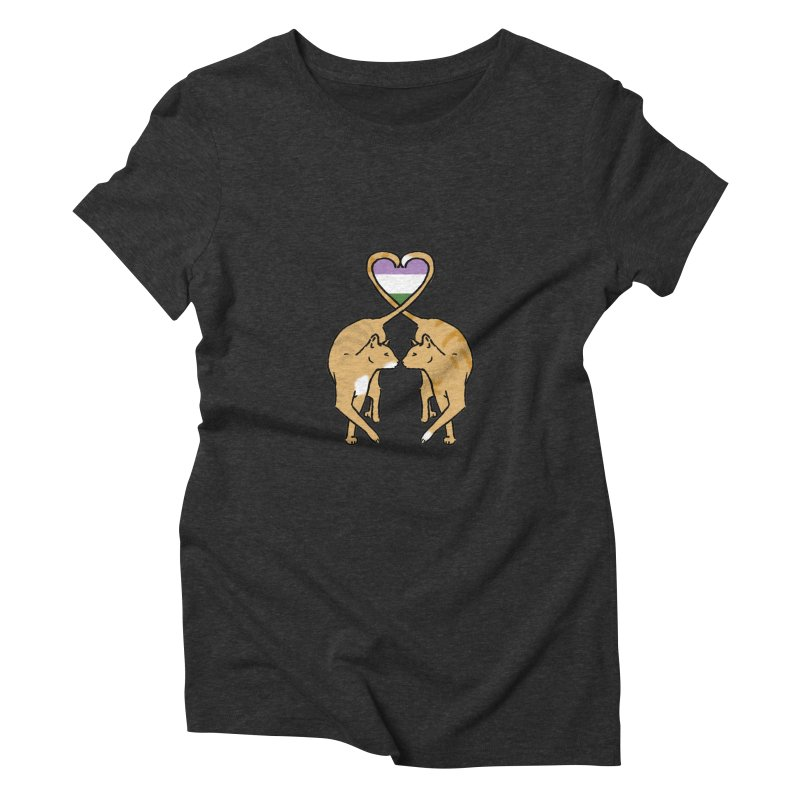 Genderqueer Pride - Love Cats Women's Triblend T-Shirt by alrkeaton's Artist Shop