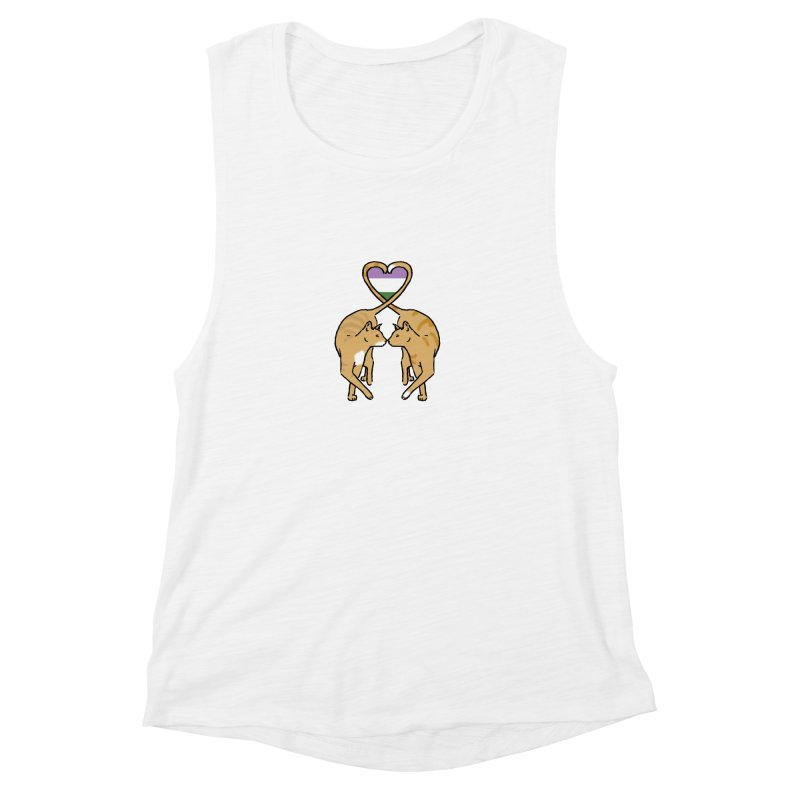 Genderqueer Pride - Love Cats Women's Muscle Tank by alrkeaton's Artist Shop
