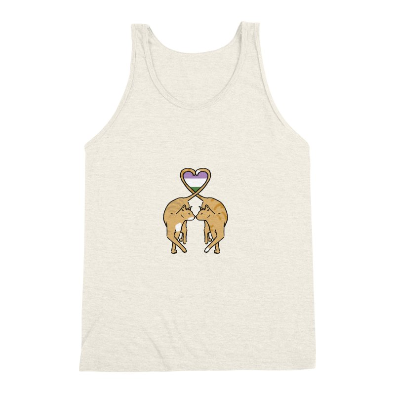 Genderqueer Pride - Love Cats Men's Triblend Tank by alrkeaton's Artist Shop