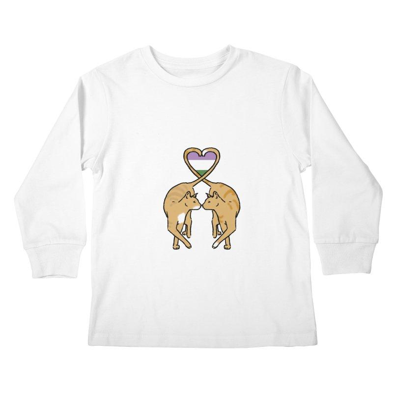 Genderqueer Pride - Love Cats Kids Longsleeve T-Shirt by alrkeaton's Artist Shop