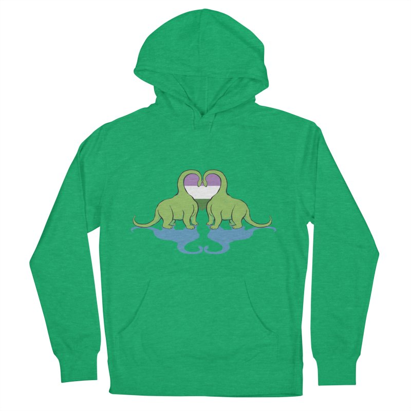 Genderqueer Pride - Dino Love Women's French Terry Pullover Hoody by alrkeaton's Artist Shop