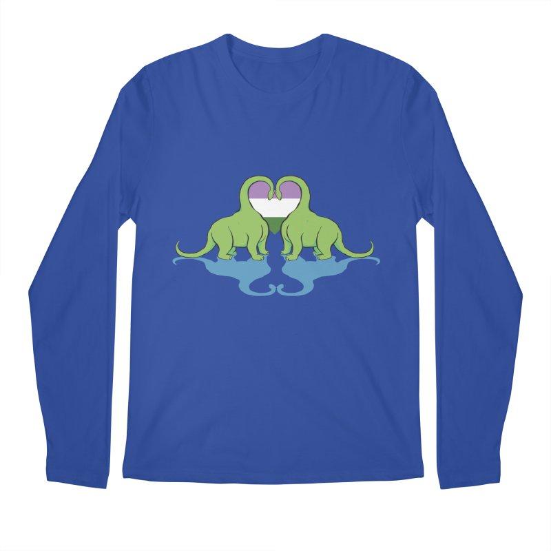 Genderqueer Pride - Dino Love Men's Longsleeve T-Shirt by alrkeaton's Artist Shop