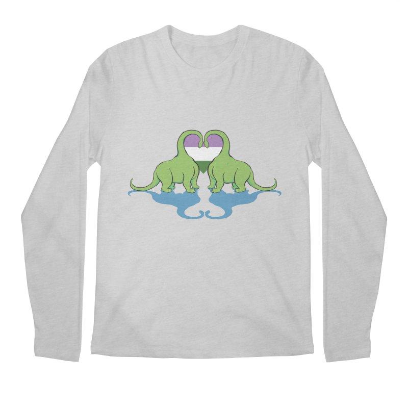 Genderqueer Pride - Dino Love Men's Regular Longsleeve T-Shirt by alrkeaton's Artist Shop