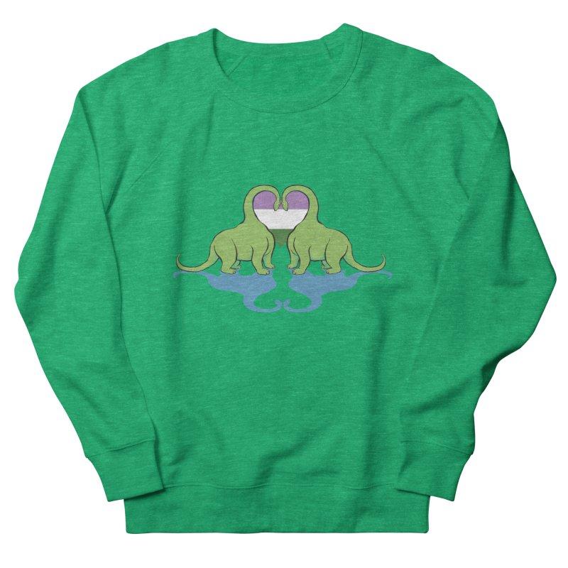 Genderqueer Pride - Dino Love Women's Sweatshirt by alrkeaton's Artist Shop