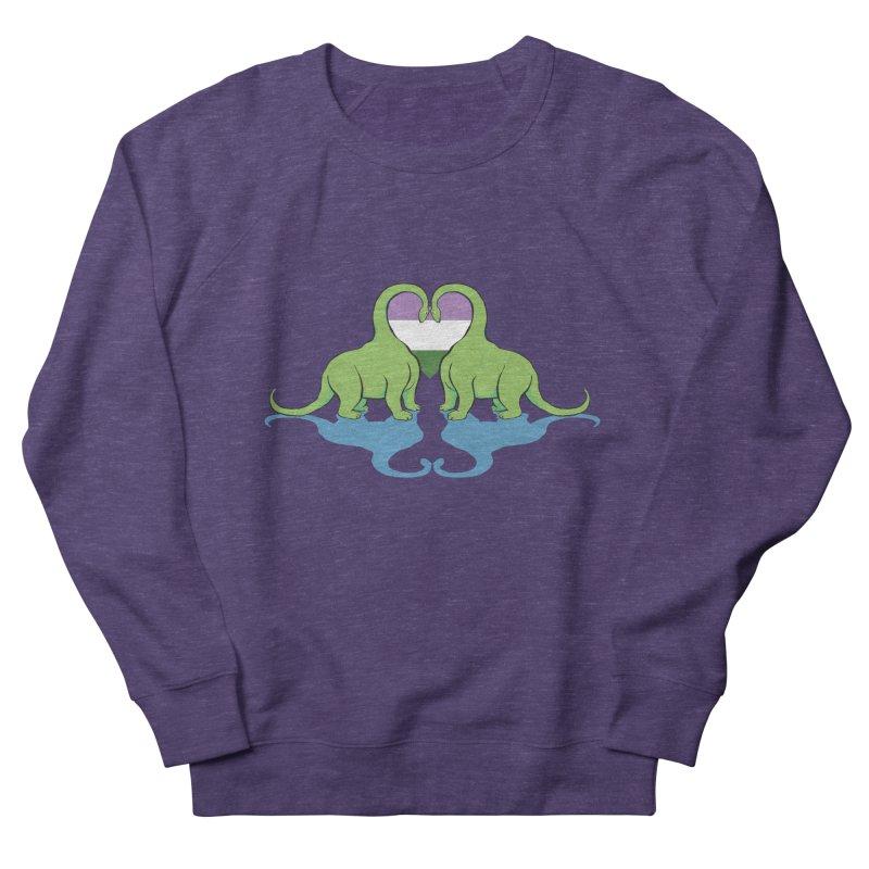 Genderqueer Pride - Dino Love Men's French Terry Sweatshirt by alrkeaton's Artist Shop
