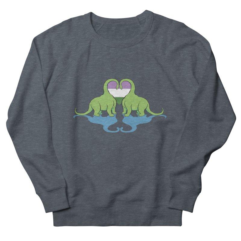 Genderqueer Pride - Dino Love Men's Sweatshirt by alrkeaton's Artist Shop