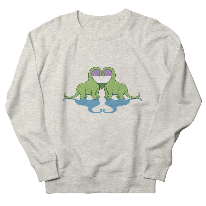 Genderqueer Pride - Dino Love Men's Sweatshirt by alrkeaton's Artist Shop
