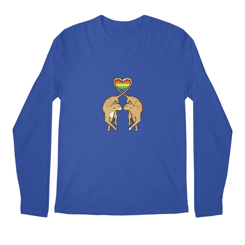 Gay Pride - Love Cats Men's Longsleeve T-Shirt by alrkeaton's Artist Shop