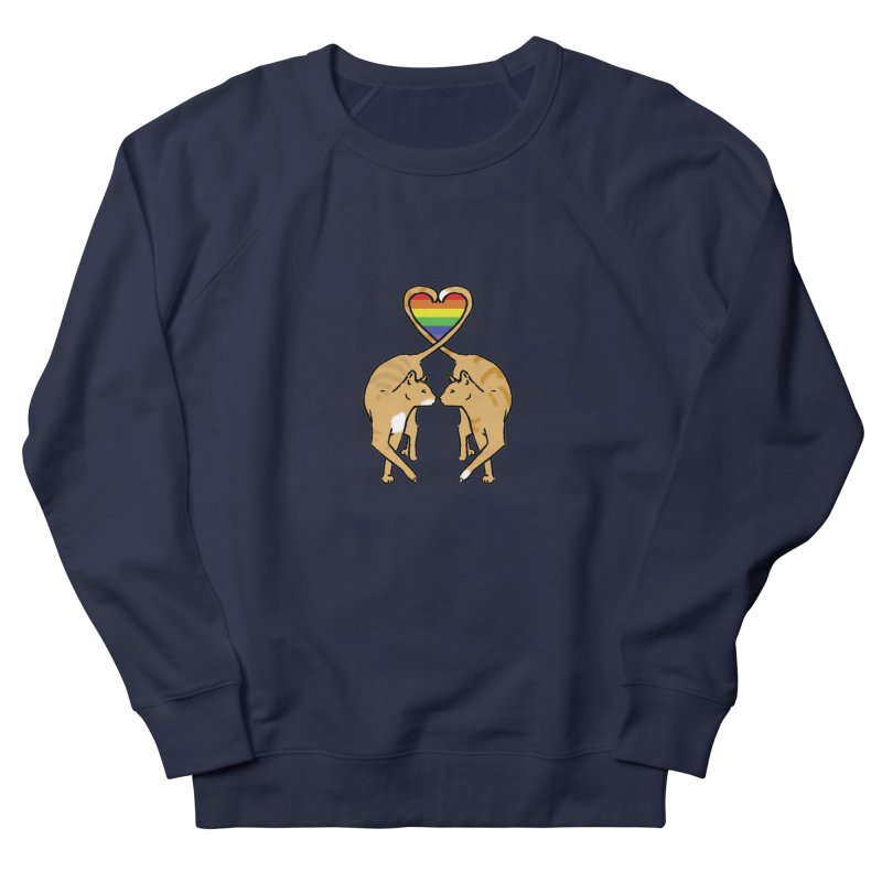 Gay Pride - Love Cats Women's French Terry Sweatshirt by alrkeaton's Artist Shop
