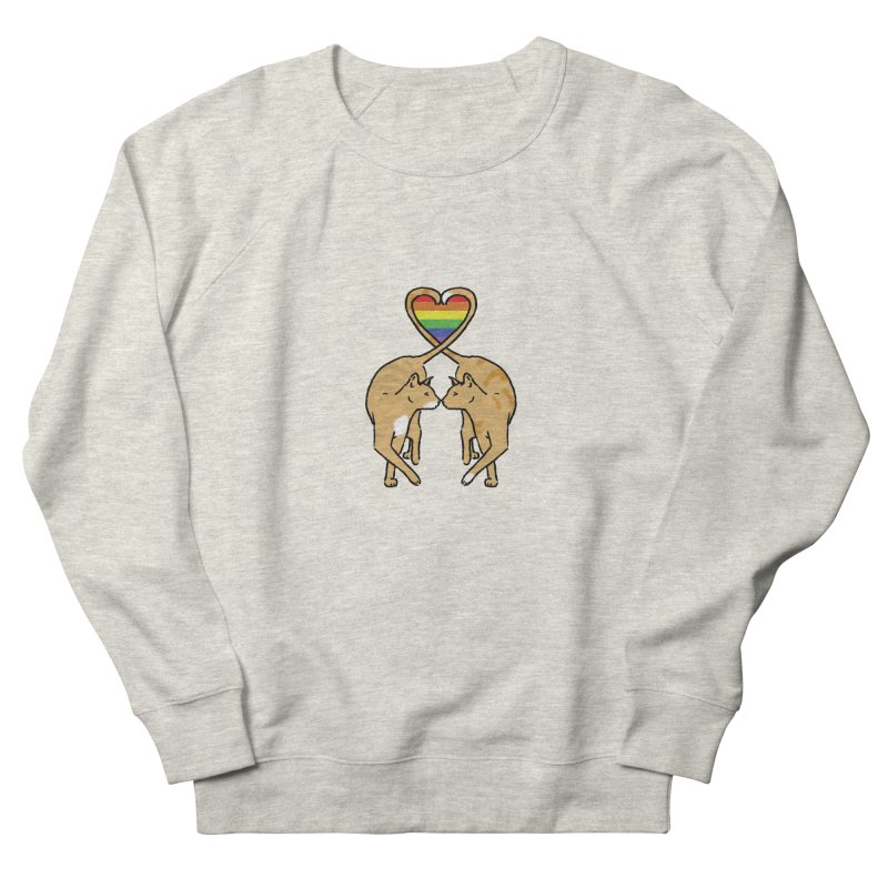 Gay Pride - Love Cats Men's French Terry Sweatshirt by alrkeaton's Artist Shop