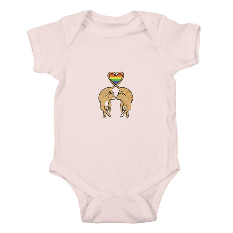 Gay Pride - Love Cats Kids Baby Bodysuit by alrkeaton's Artist Shop