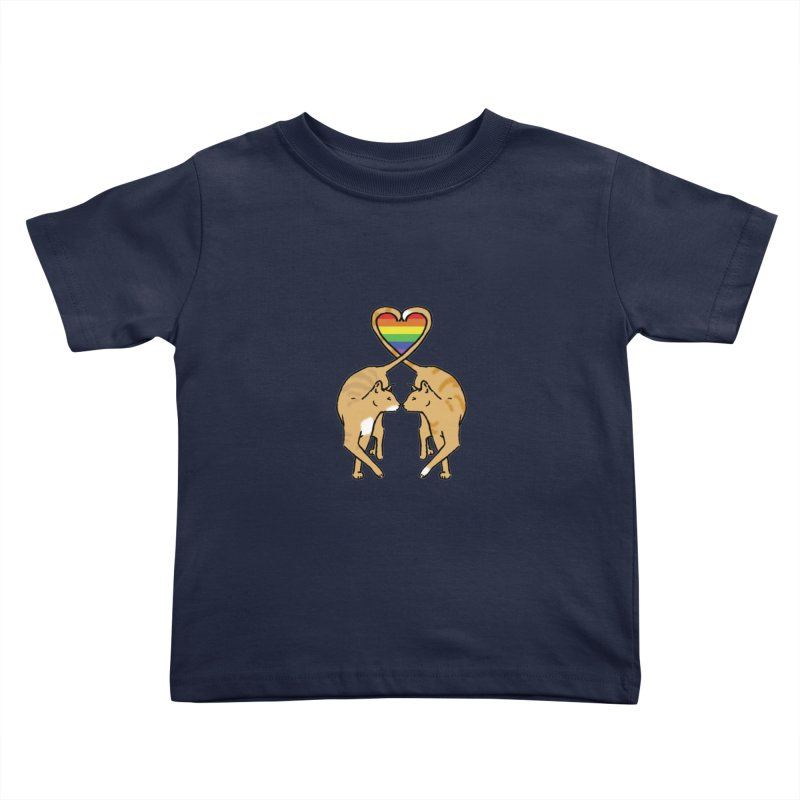 Gay Pride - Love Cats Kids Toddler T-Shirt by alrkeaton's Artist Shop