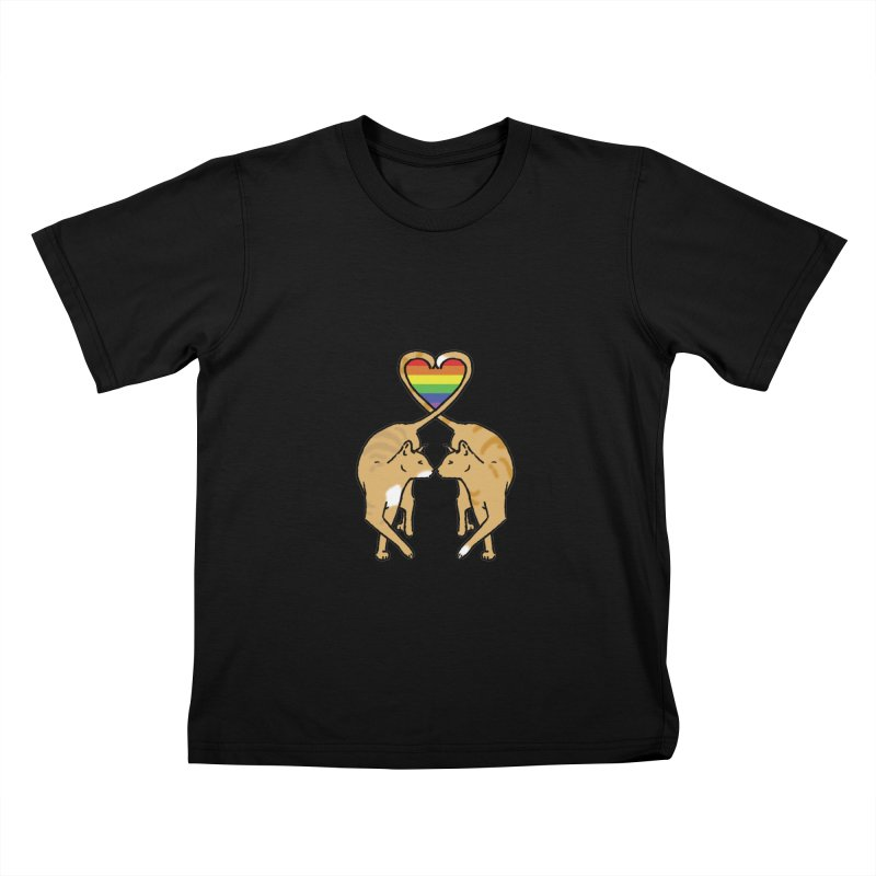Gay Pride - Love Cats Kids T-shirt by alrkeaton's Artist Shop