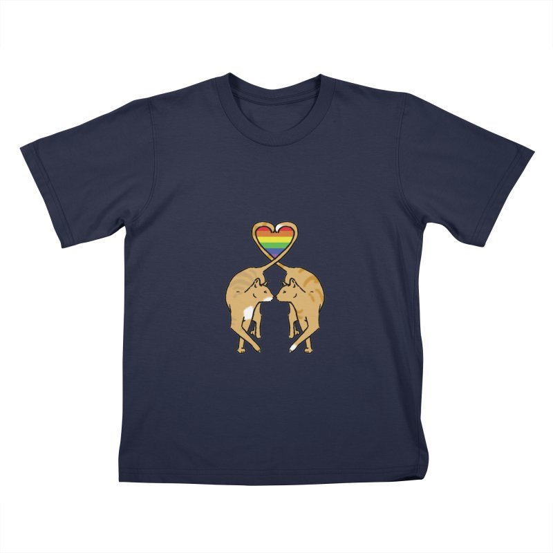 Gay Pride - Love Cats Kids T-Shirt by alrkeaton's Artist Shop