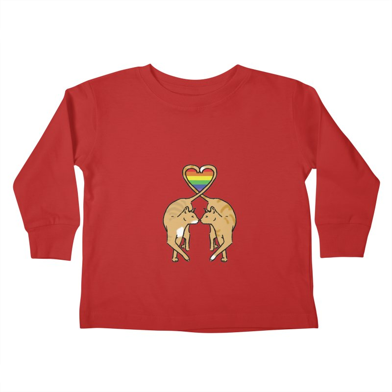 Gay Pride - Love Cats Kids Toddler Longsleeve T-Shirt by alrkeaton's Artist Shop
