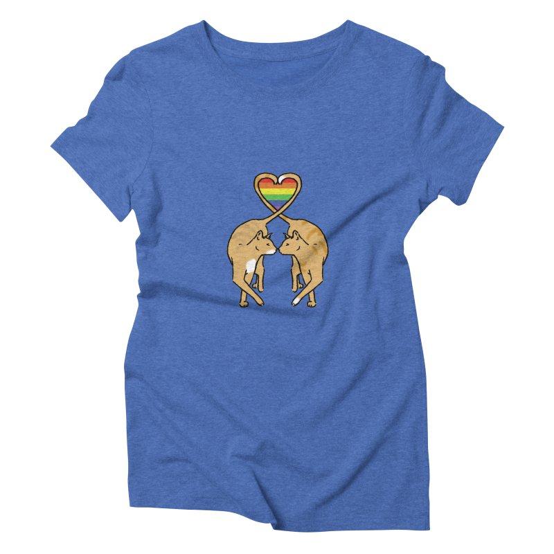 Gay Pride - Love Cats Women's Triblend T-shirt by alrkeaton's Artist Shop