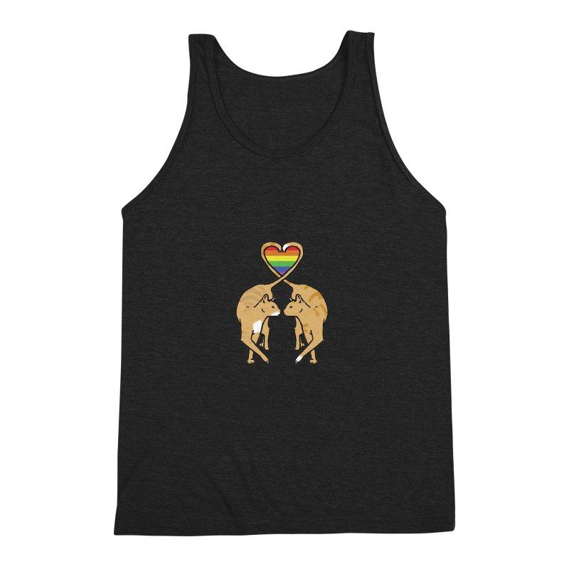 Gay Pride - Love Cats Men's Triblend Tank by alrkeaton's Artist Shop