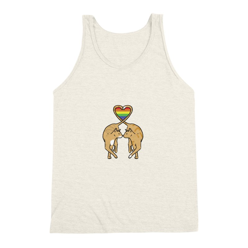 Gay Pride - Love Cats Men's Triblend Tank by alrkeaton's Artist Shop