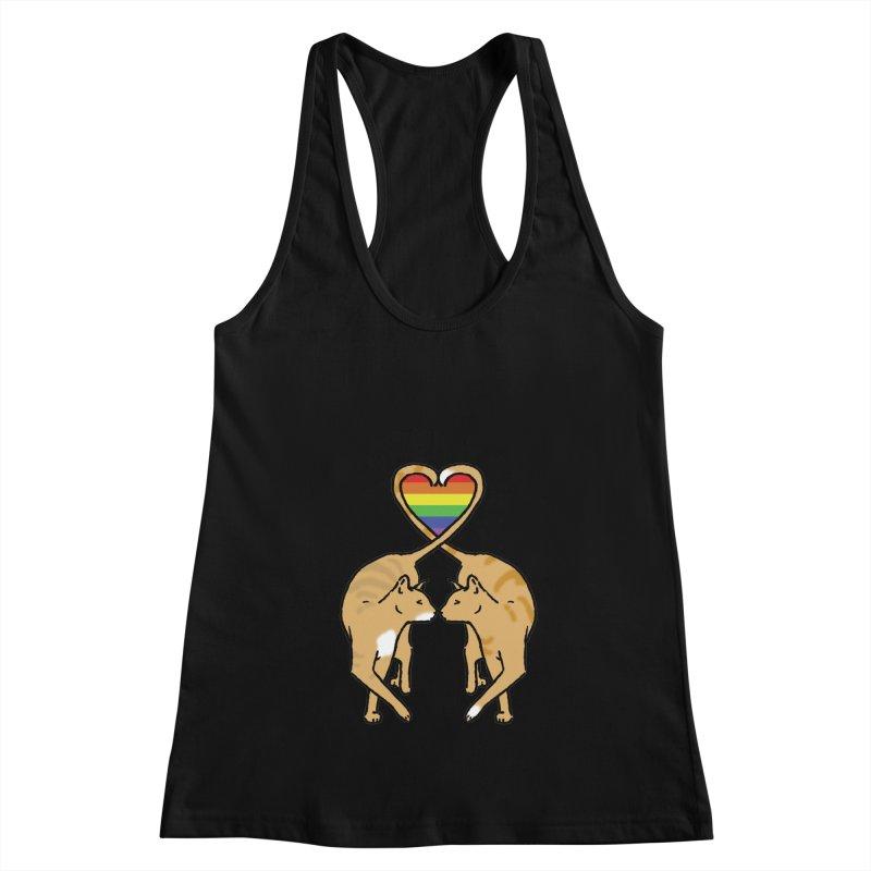Gay Pride - Love Cats Women's Racerback Tank by alrkeaton's Artist Shop