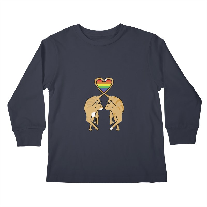 Gay Pride - Love Cats Kids Longsleeve T-Shirt by alrkeaton's Artist Shop