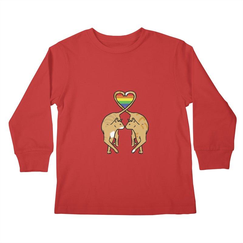 Gay Pride - Love Cats Kids Longsleeve T-Shirt by alrkeaton's Artist Shop