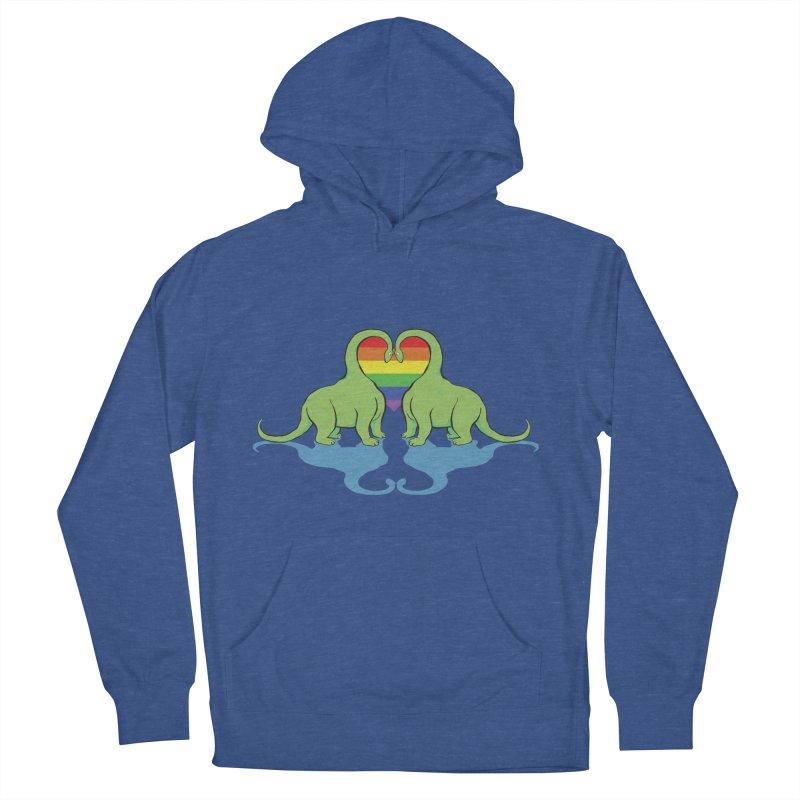 Gay Pride - Dino Love Women's Pullover Hoody by alrkeaton's Artist Shop