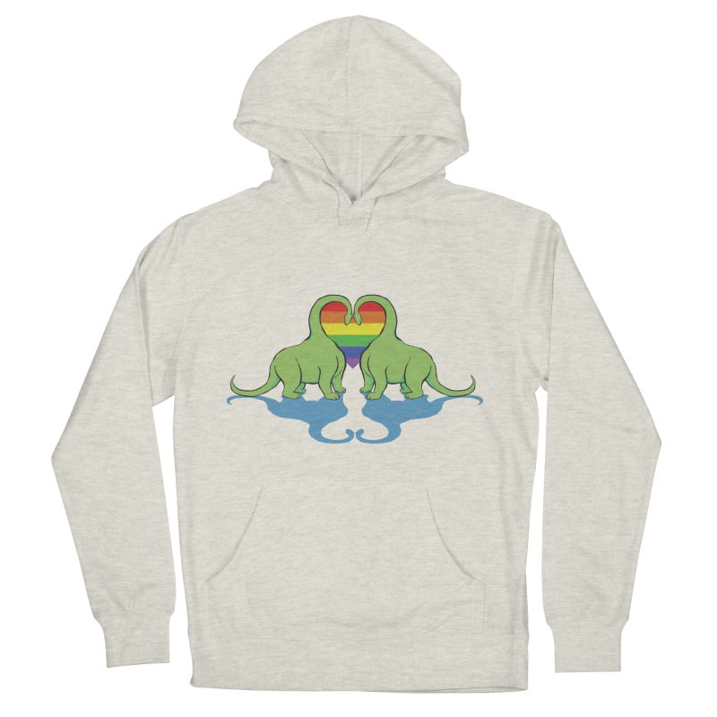 Gay Pride - Dino Love Women's French Terry Pullover Hoody by alrkeaton's Artist Shop