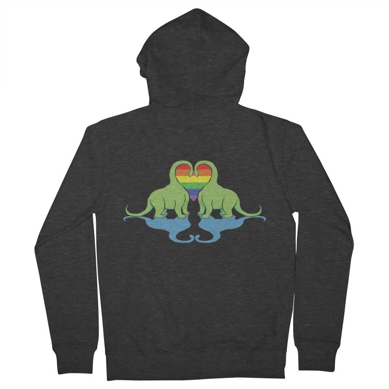 Gay Pride - Dino Love Women's French Terry Zip-Up Hoody by alrkeaton's Artist Shop