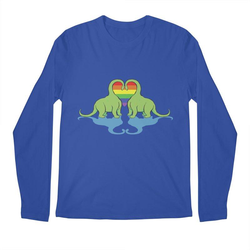 Gay Pride - Dino Love Men's Longsleeve T-Shirt by alrkeaton's Artist Shop
