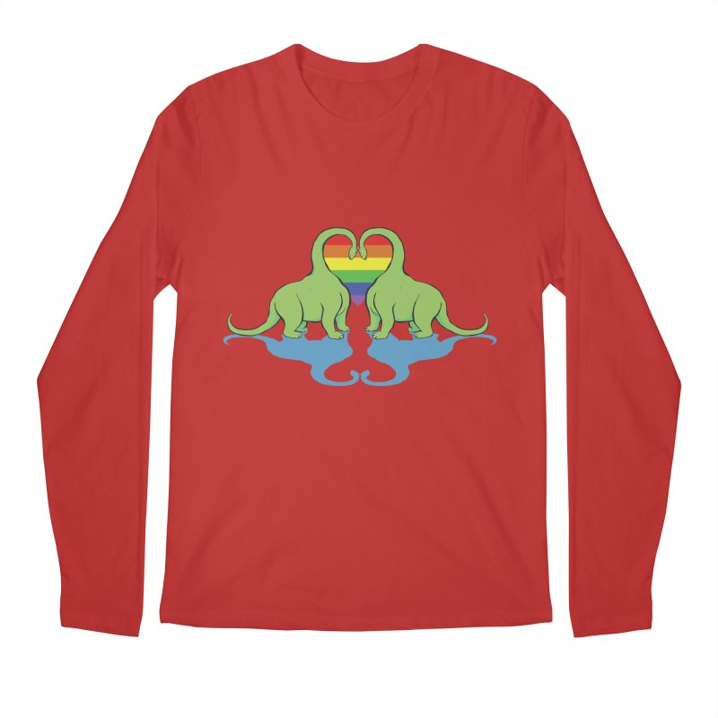 Gay Pride - Dino Love Men's Longsleeve T-Shirt by alrkeaton's Artist Shop
