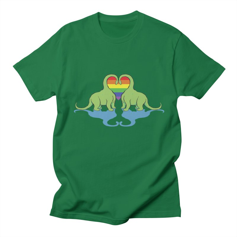 Gay Pride - Dino Love Men's T-shirt by alrkeaton's Artist Shop