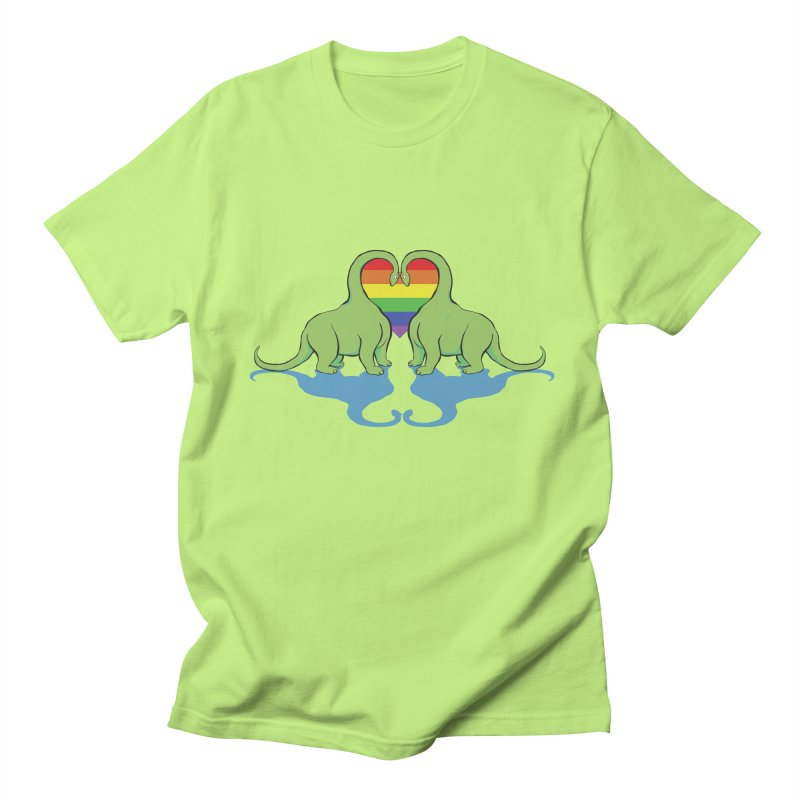 Gay Pride - Dino Love Men's T-Shirt by alrkeaton's Artist Shop