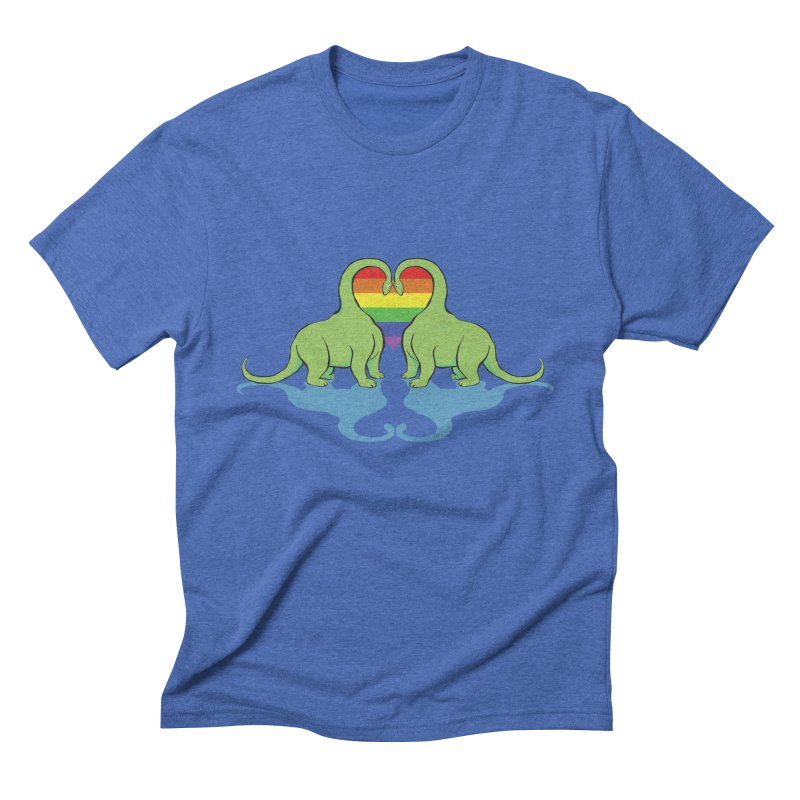Gay Pride - Dino Love Men's Triblend T-Shirt by alrkeaton's Artist Shop