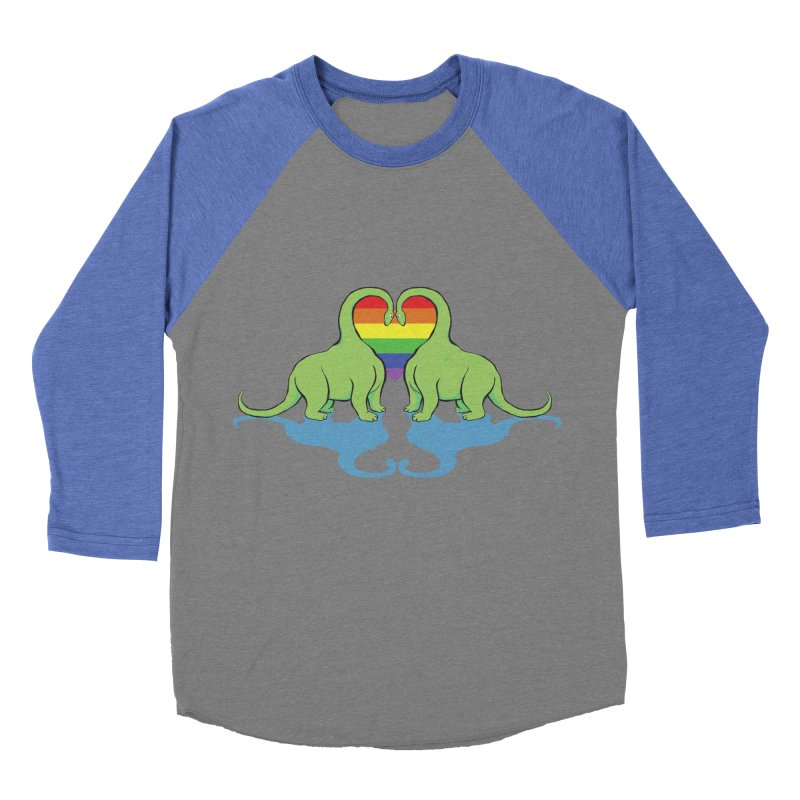 Gay Pride - Dino Love Women's Baseball Triblend T-Shirt by alrkeaton's Artist Shop