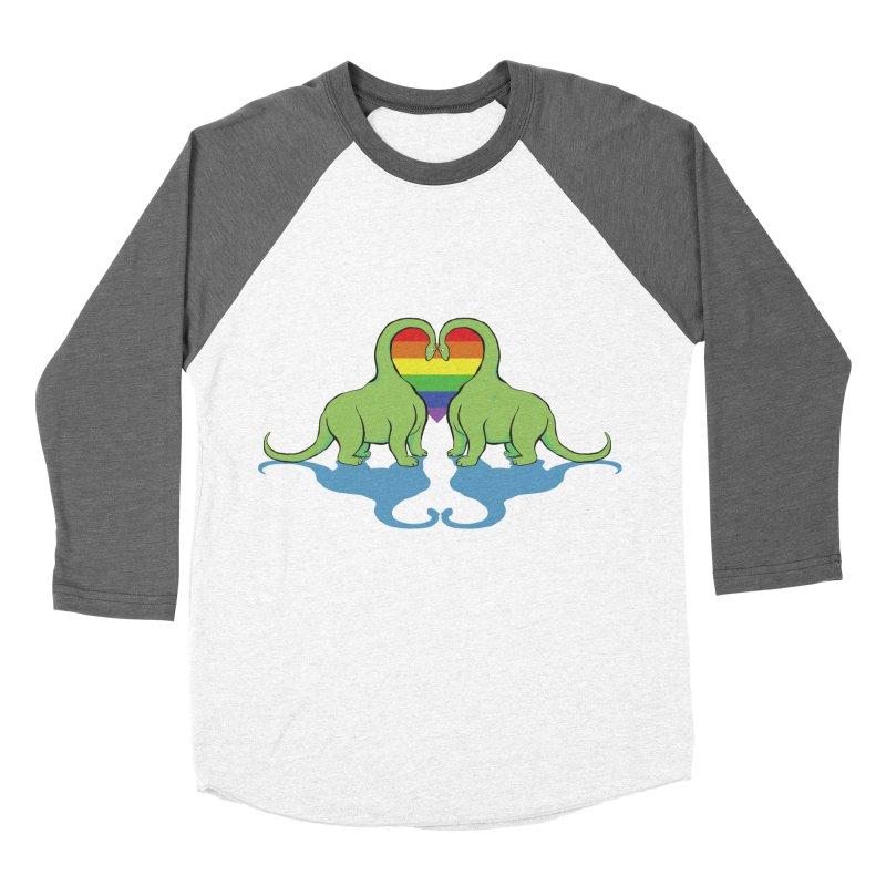 Gay Pride - Dino Love Men's Baseball Triblend Longsleeve T-Shirt by alrkeaton's Artist Shop