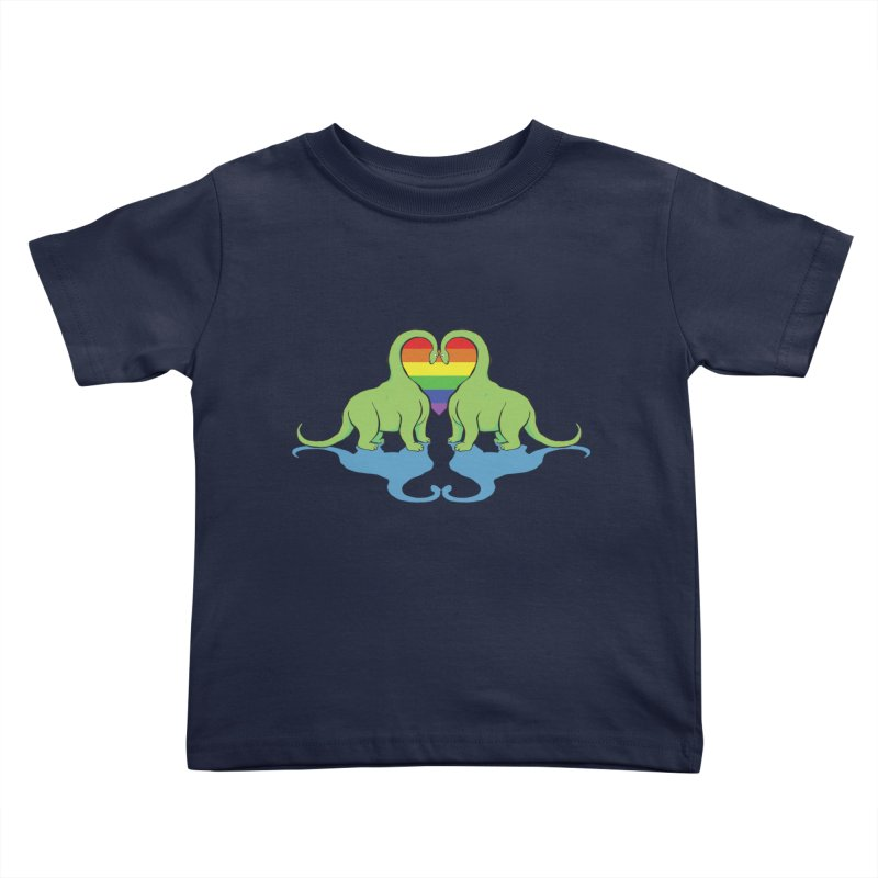 Gay Pride - Dino Love Kids Toddler T-Shirt by alrkeaton's Artist Shop