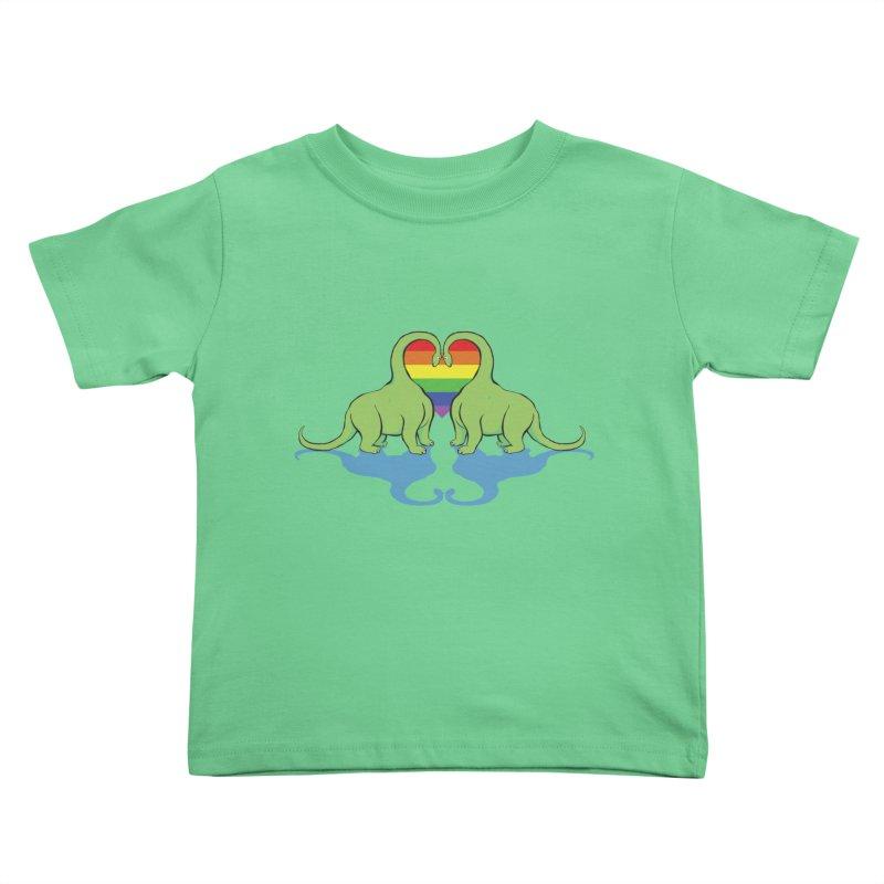 Gay Pride - Dino Love Kids Toddler T-Shirt by alrkeaton's Artist Shop