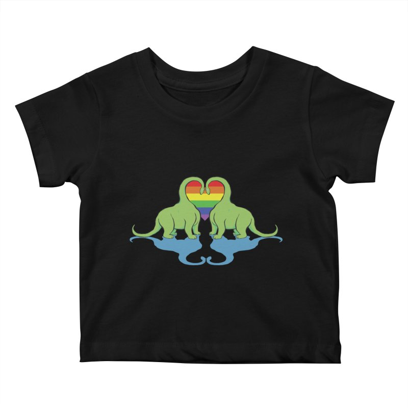 Gay Pride - Dino Love Kids Baby T-Shirt by alrkeaton's Artist Shop