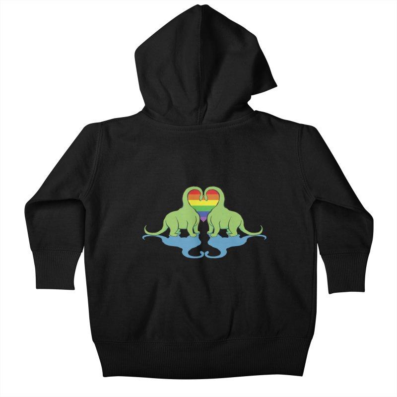 Gay Pride - Dino Love Kids Baby Zip-Up Hoody by alrkeaton's Artist Shop