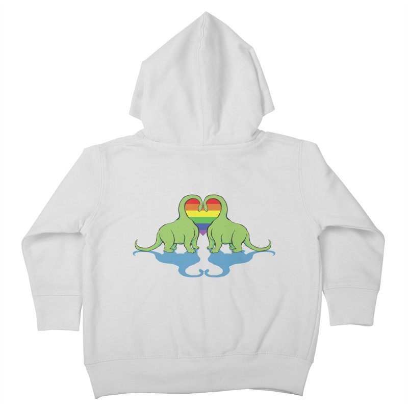Gay Pride - Dino Love Kids Toddler Zip-Up Hoody by alrkeaton's Artist Shop