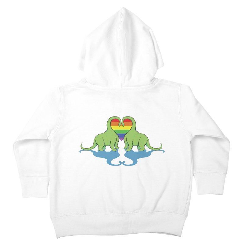 Gay Pride - Dino Love Kids Toddler Zip-Up Hoody by alrkeaton's Artist Shop