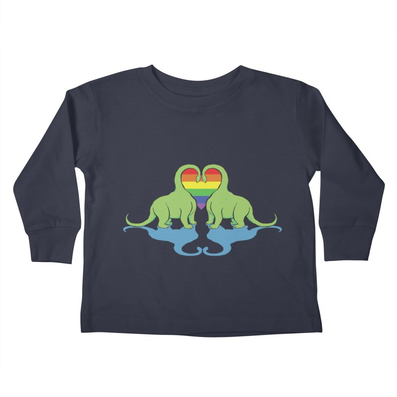 Gay Pride - Dino Love Kids Toddler Longsleeve T-Shirt by alrkeaton's Artist Shop