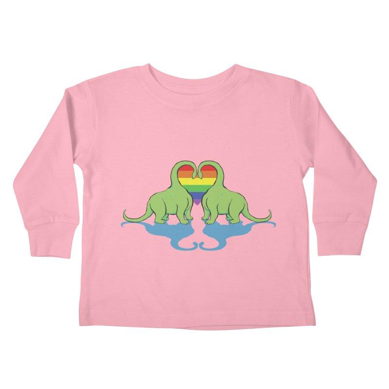 Gay Pride - Dino Love Kids Toddler Longsleeve T-Shirt by alrkeaton's Artist Shop