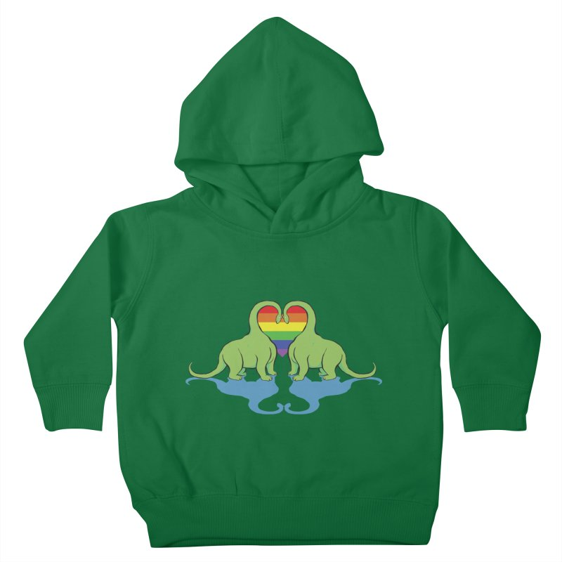 Gay Pride - Dino Love Kids Toddler Pullover Hoody by alrkeaton's Artist Shop