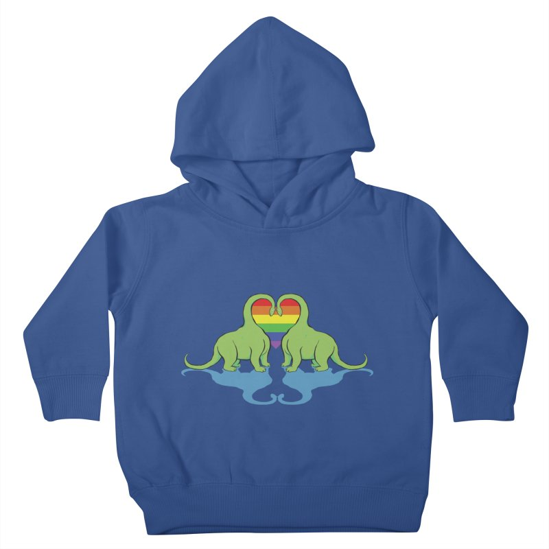 Gay Pride - Dino Love Kids Toddler Pullover Hoody by alrkeaton's Artist Shop