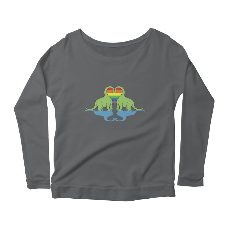 Gay Pride - Dino Love Women's Scoop Neck Longsleeve T-Shirt by alrkeaton's Artist Shop
