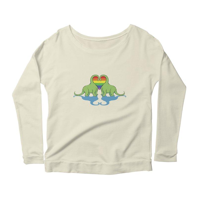 Gay Pride - Dino Love Women's Scoop Neck Longsleeve T-Shirt by alrkeaton's Artist Shop
