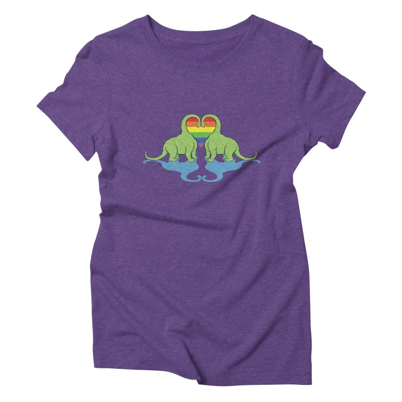 Gay Pride - Dino Love Women's Triblend T-shirt by alrkeaton's Artist Shop